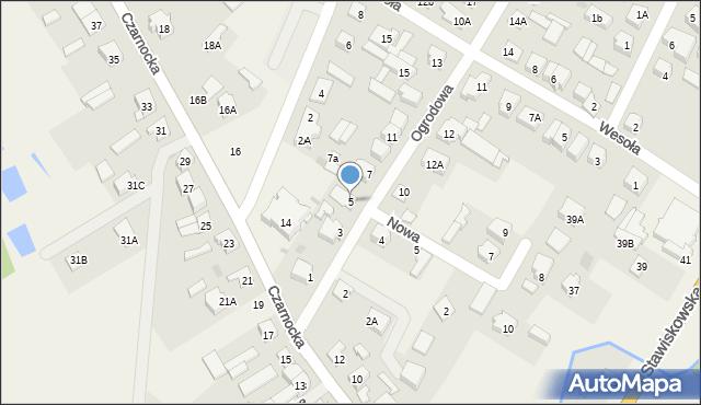 Piątnica Poduchowna, Ogrodowa, 5, mapa Piątnica Poduchowna