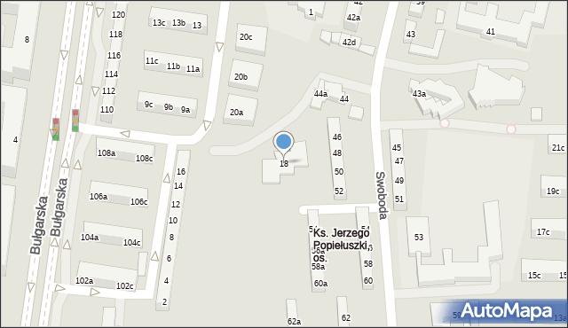 Poznań, Ognik, 18, mapa Poznania
