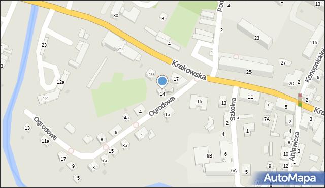 Przeworsk, Ogrodowa, 14, mapa Przeworsk