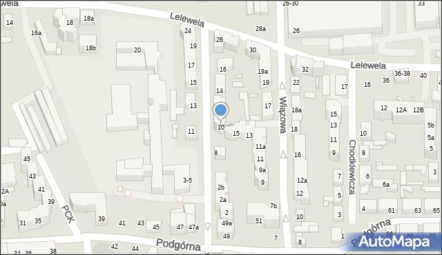 Toruń, Ogrodowa, 10, mapa Torunia