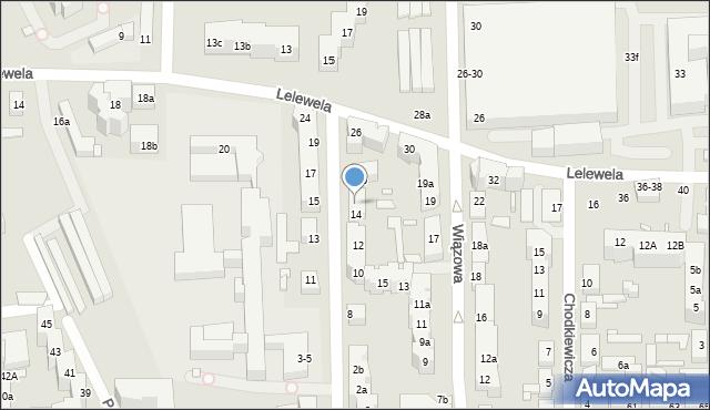 Toruń, Ogrodowa, 14a, mapa Torunia