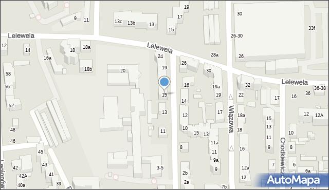 Toruń, Ogrodowa, 15, mapa Torunia