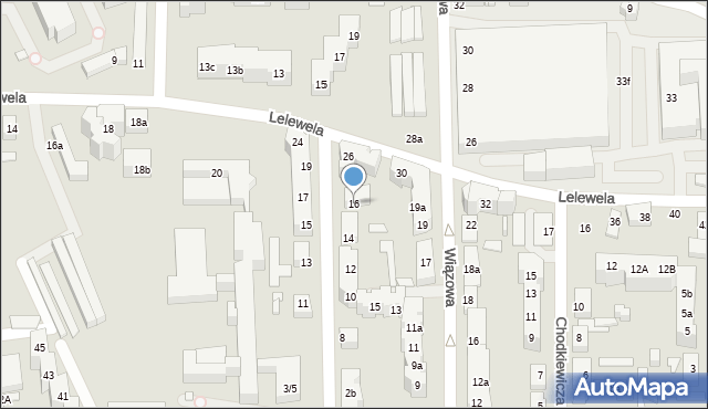 Toruń, Ogrodowa, 16, mapa Torunia