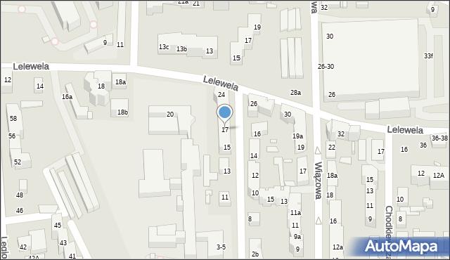 Toruń, Ogrodowa, 17, mapa Torunia