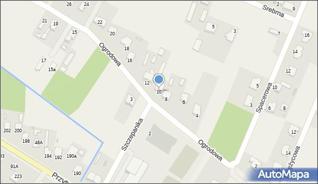 Wacyn, Ogrodowa, 10, mapa Wacyn