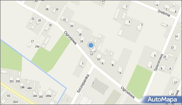 Wacyn, Ogrodowa, 14, mapa Wacyn