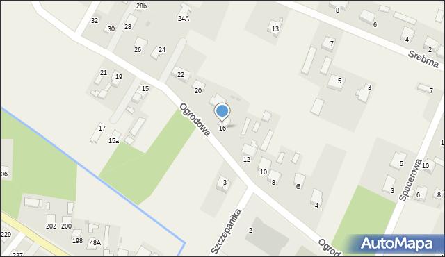 Wacyn, Ogrodowa, 16, mapa Wacyn