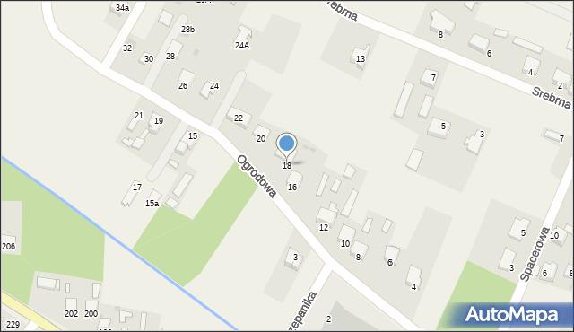 Wacyn, Ogrodowa, 18, mapa Wacyn