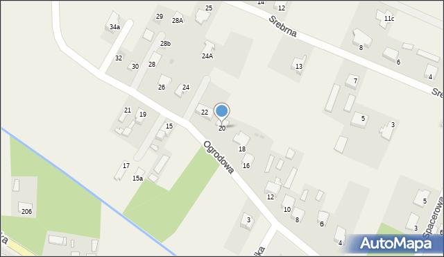 Wacyn, Ogrodowa, 20, mapa Wacyn