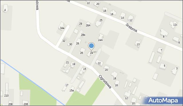 Wacyn, Ogrodowa, 24, mapa Wacyn