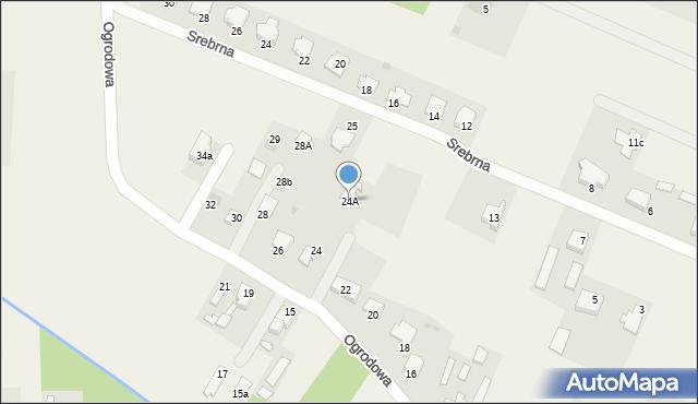 Wacyn, Ogrodowa, 24A, mapa Wacyn