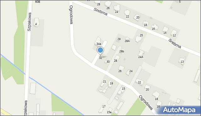 Wacyn, Ogrodowa, 32, mapa Wacyn