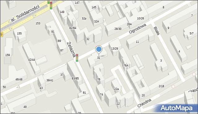 Warszawa, Ogrodowa, 31/35, mapa Warszawy