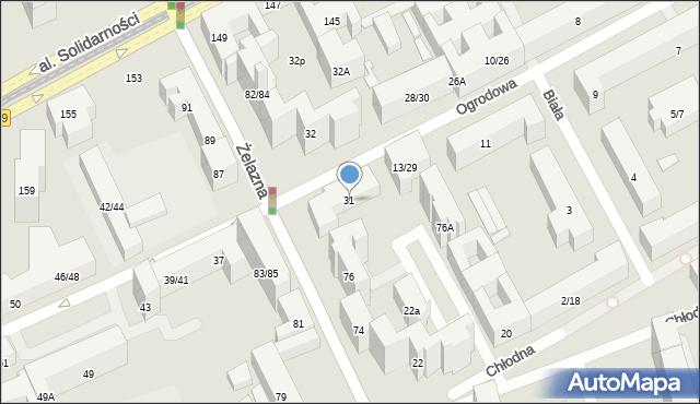 Warszawa, Ogrodowa, 31, mapa Warszawy