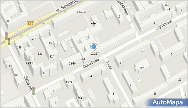 Warszawa, Ogrodowa, 10/26, mapa Warszawy