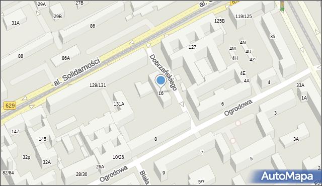 Warszawa, Ogrodowa, 16, mapa Warszawy