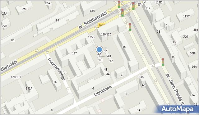 Warszawa, Ogrodowa, 4K, mapa Warszawy