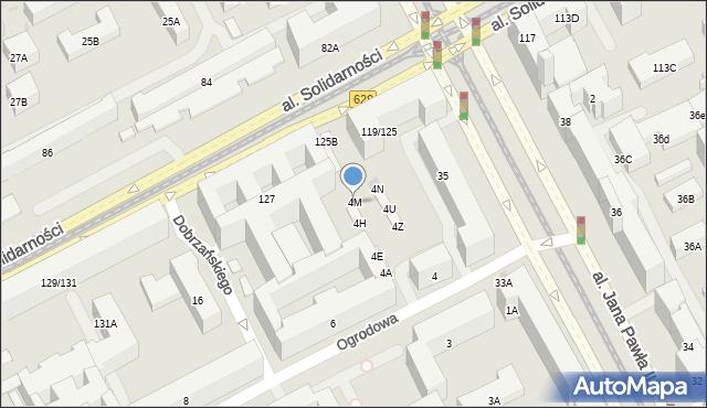 Warszawa, Ogrodowa, 4M, mapa Warszawy