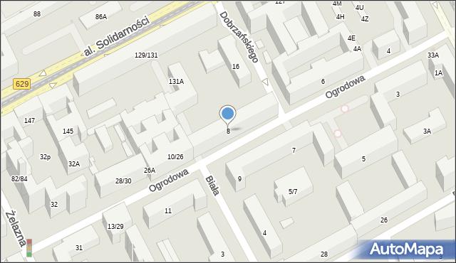 Warszawa, Ogrodowa, 8, mapa Warszawy
