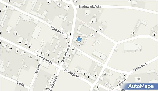 Wizna, Ogrodowa, 6, mapa Wizna