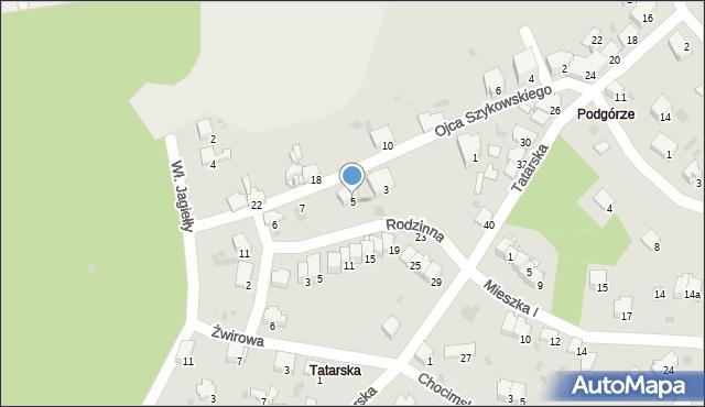 Przemyśl, Ojca Krystyna Szykowskiego, 5, mapa Przemyśla