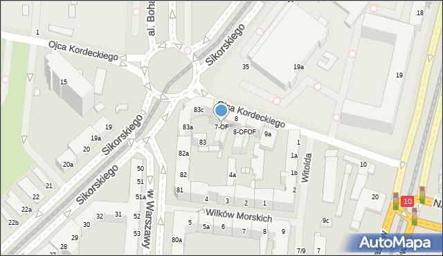 Szczecin, Ojca Augustyna Kordeckiego, 7-OF, mapa Szczecina