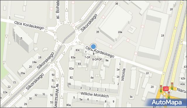 Szczecin, Ojca Augustyna Kordeckiego, 8, mapa Szczecina