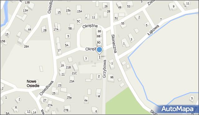 Gościcino, Okrężna, 1, mapa Gościcino