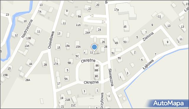 Gościcino, Okrężna, 13, mapa Gościcino