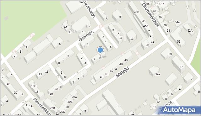 Jaworzno, Okrężna, 1B, mapa Jaworzno