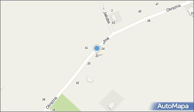 Kicin, Okrężna, 22, mapa Kicin