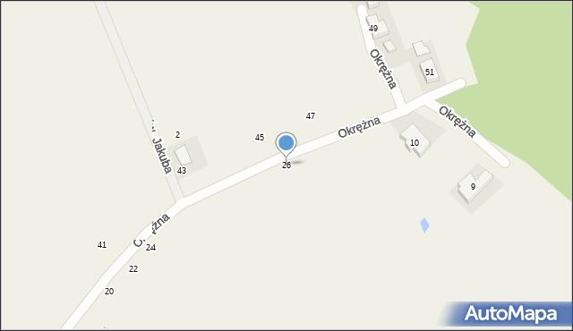 Kicin, Okrężna, 26, mapa Kicin
