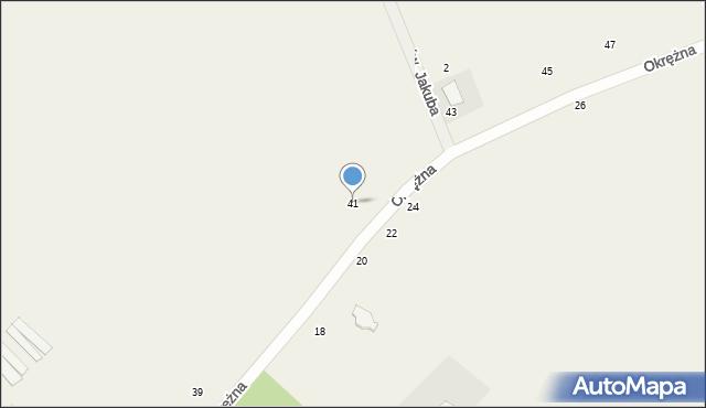 Kicin, Okrężna, 41, mapa Kicin