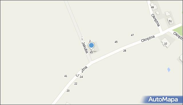 Kicin, Okrężna, 43, mapa Kicin