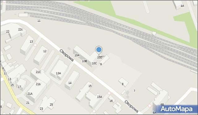 Kołobrzeg, Okopowa, 10D, mapa Kołobrzegu