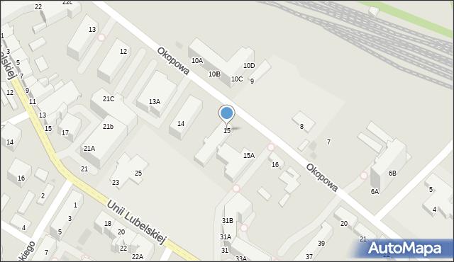Kołobrzeg, Okopowa, 15, mapa Kołobrzegu