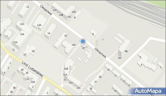 Kołobrzeg, Okopowa, 16, mapa Kołobrzegu