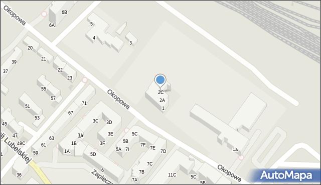 Kołobrzeg, Okopowa, 2C, mapa Kołobrzegu