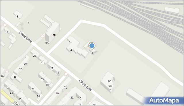 Kołobrzeg, Okopowa, 3, mapa Kołobrzegu