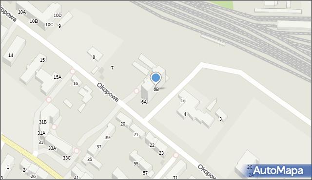 Kołobrzeg, Okopowa, 6B, mapa Kołobrzegu