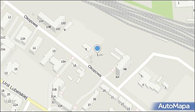 Kołobrzeg, Okopowa, 7, mapa Kołobrzegu
