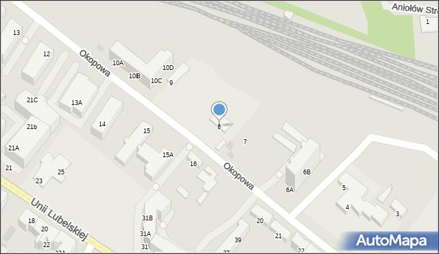 Kołobrzeg, Okopowa, 8, mapa Kołobrzegu