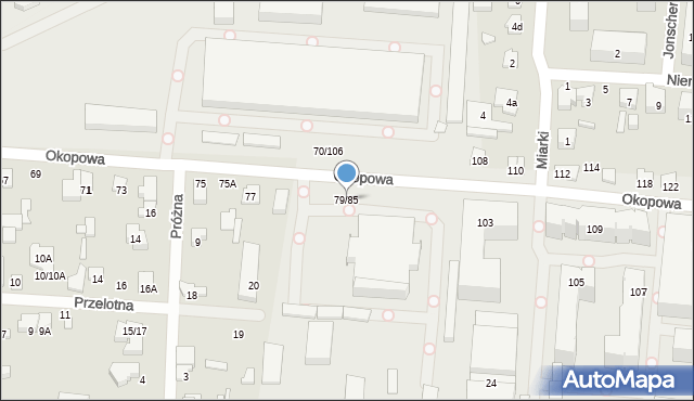 Łódź, Okopowa, 79/85, mapa Łodzi