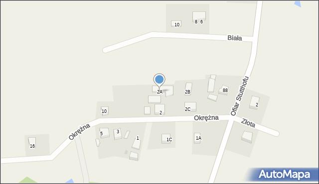 Luzino, Okrężna, 2A, mapa Luzino