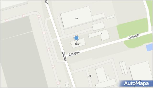 Marki, Okólna, 40A, mapa Marki