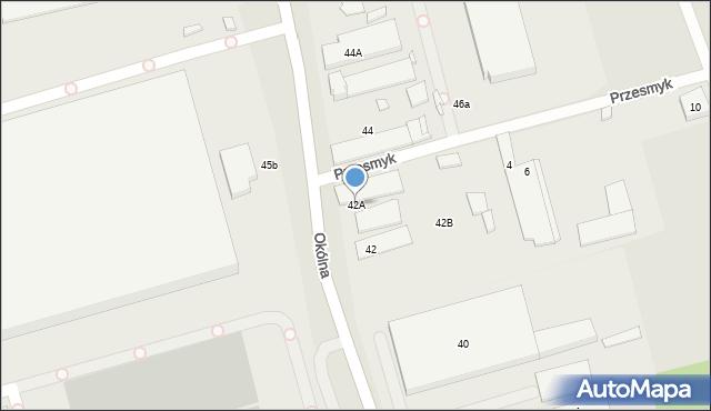 Marki, Okólna, 42A, mapa Marki