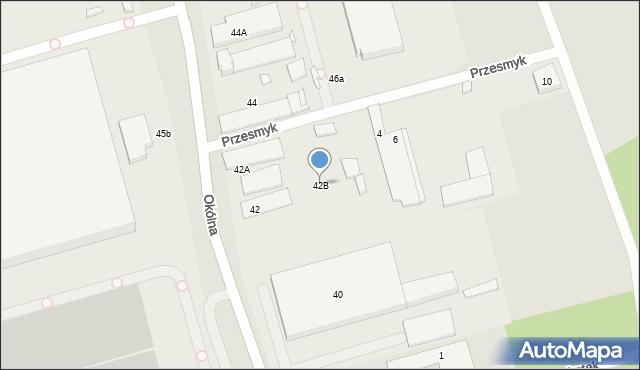 Marki, Okólna, 42B, mapa Marki