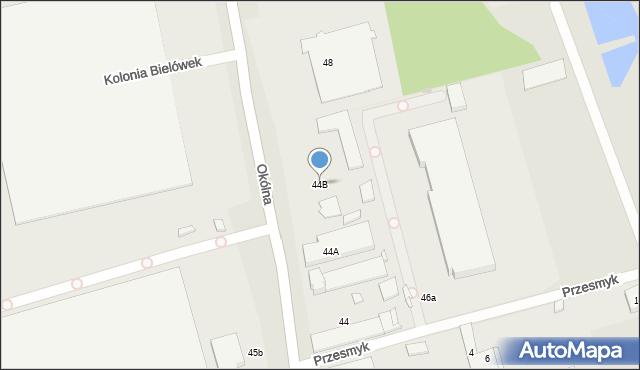 Marki, Okólna, 44B, mapa Marki