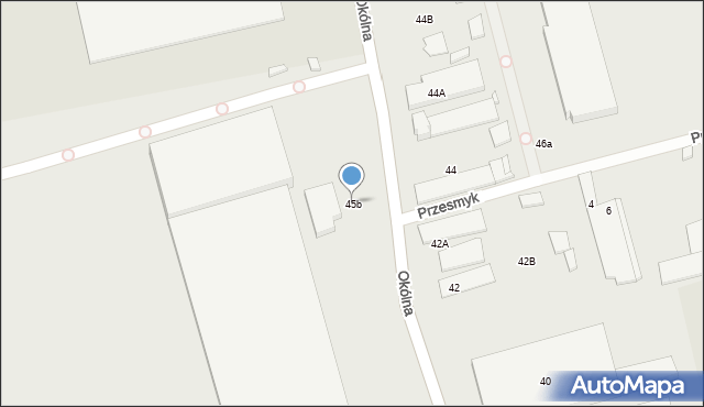 Marki, Okólna, 45b, mapa Marki