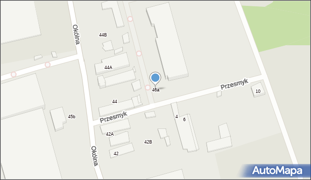 Marki, Okólna, 46a, mapa Marki